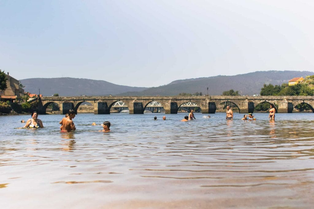 Medieval bridge in the Portuguese Camino